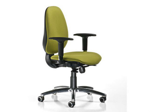 Height-adjustable fabric task chair with 5-Spoke base with armrests DUBLINO | Task chair with 5-Spoke base - D.M.