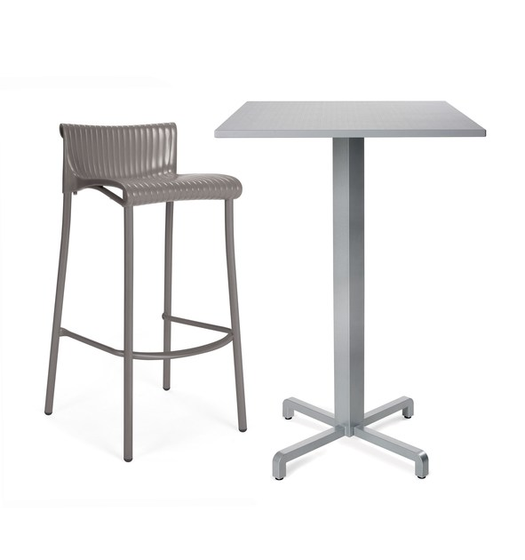 Contemporary style high stackable stool with footrest DUCA - Nardi