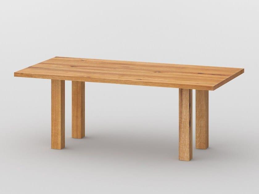 Rectangular solid wood table DUCK - vitamin design