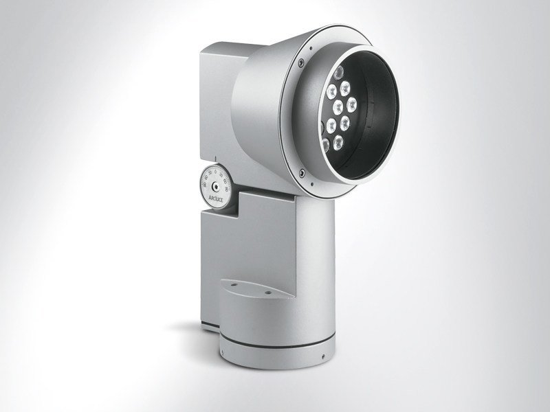 LED adjustable Outdoor floodlight DUEVENTI by Arcluce