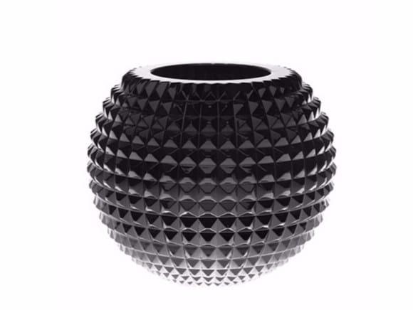 Crystal vase DUKE SPHERE STUDS - Gianfranco Ferré Home