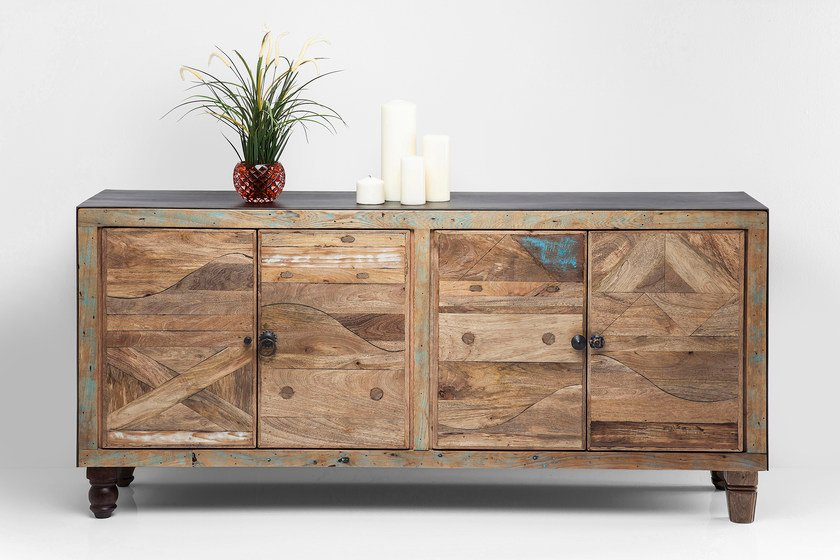 Solid wood sideboard with doors DULD | Sideboard - KARE-DESIGN