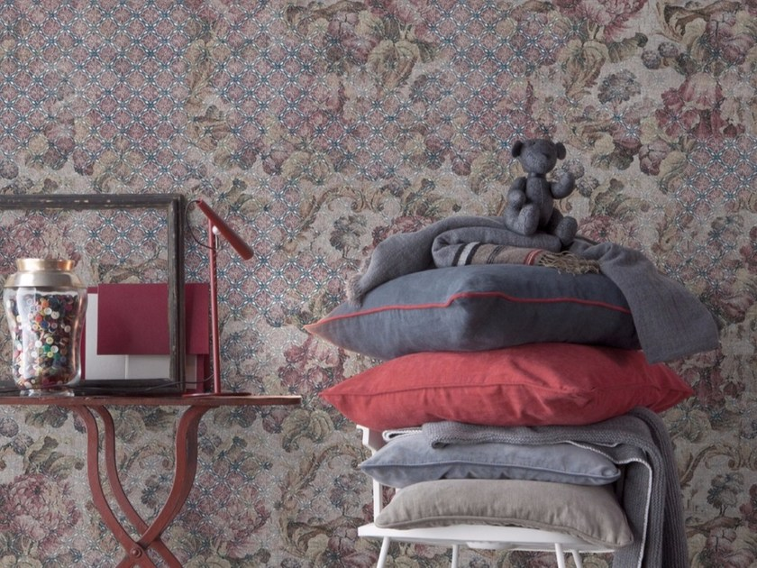 Panoramic wallpaper with floral pattern DUMALIS by Inkiostro Bianco