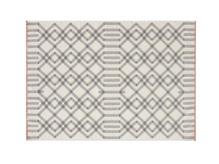 Wool rug with geometric shapes DUNA - GAN By Gandia Blasco