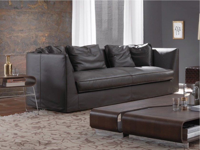 3 seater leather sofa DUNCAN | Leather sofa - FRIGERIO POLTRONE E DIVANI