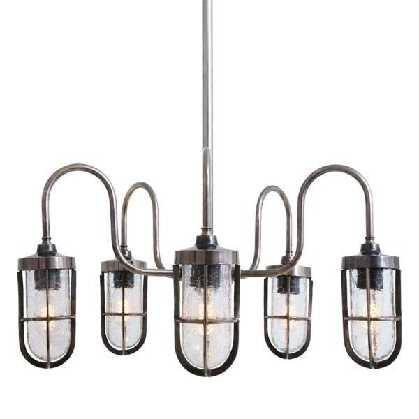 Direct light handmade chandelier DUNE BAR WELL GLASS LIGHT FITTING - Mullan Lighting