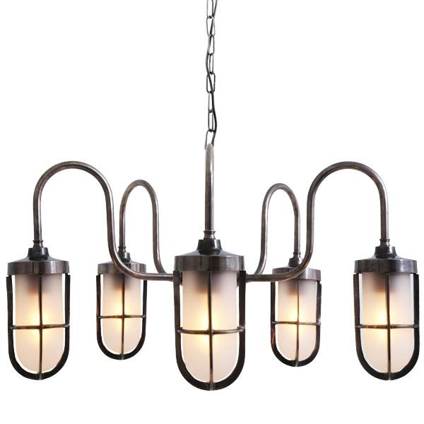 Direct light handmade chandelier DUNE WELL GLASS LIGHT FITTING - Mullan Lighting