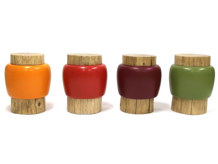 Low garden stool DUO - Binome