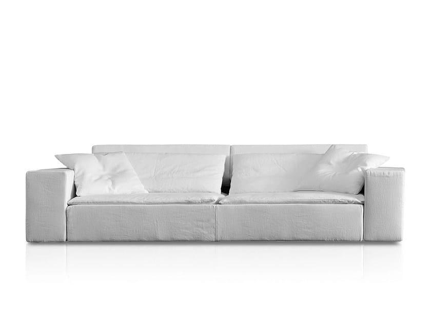 Divano imbottito in tessuto duo divano pianca for Divano incassato