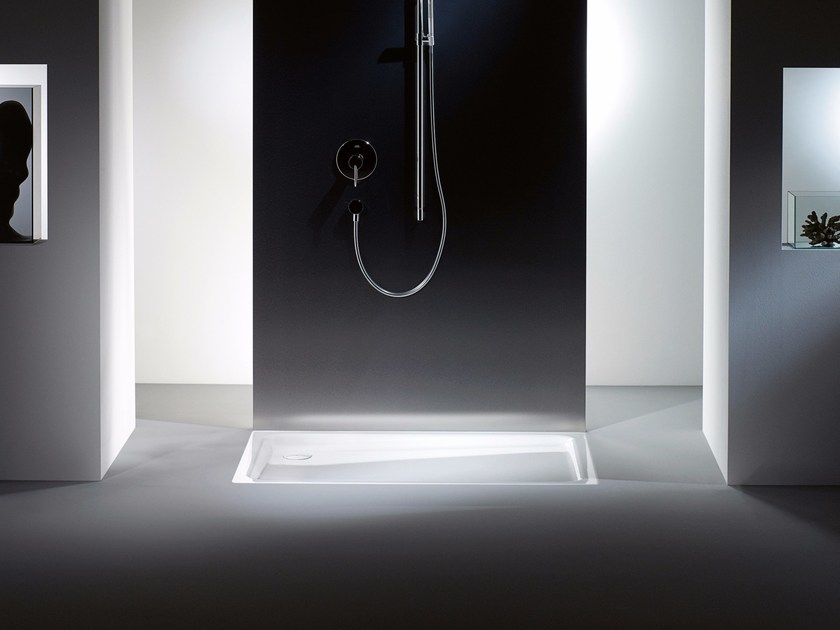 Built-in rectangular steel shower tray DUSCHPLAN - Kaldewei Italia