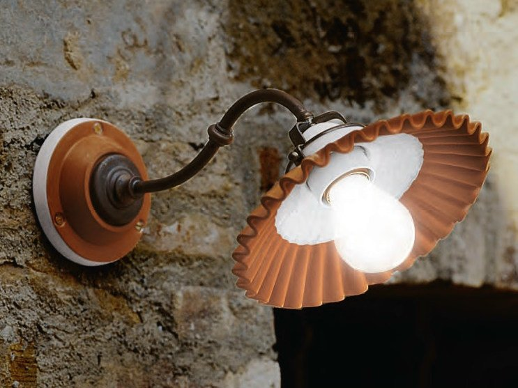 Ceramic wall lamp with fixed arm DUSE | Wall lamp - Aldo Bernardi