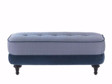 Upholstered fabric pouf DUSTIN - Gianfranco Ferré Home