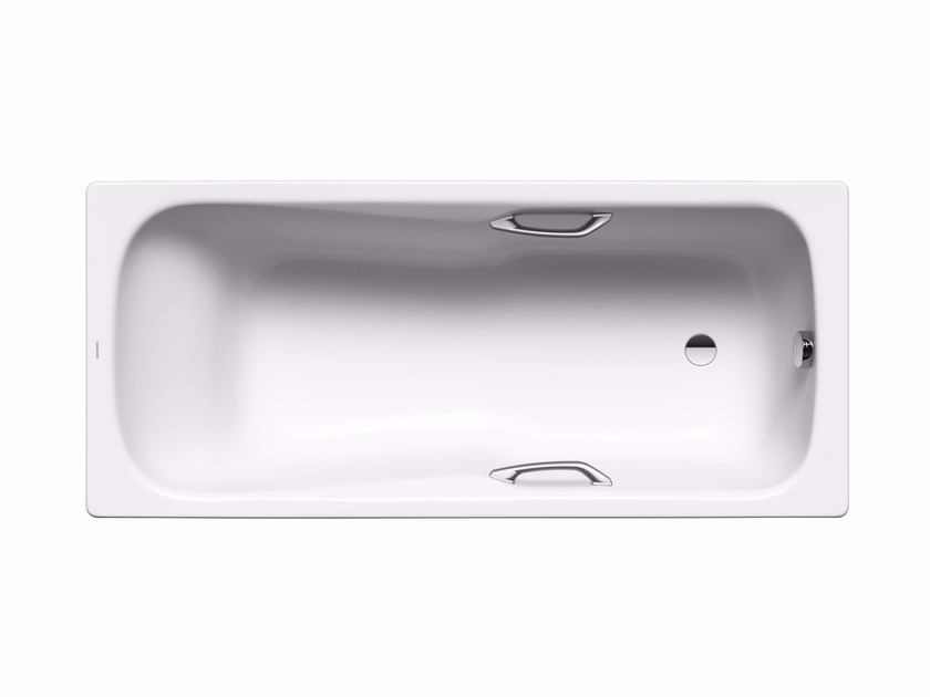 Rectangular built-in enamelled steel bathtub DYNA SET STAR - Kaldewei Italia