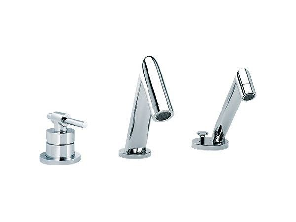 3 hole single handle bathtub set with hand shower DYNAMIC | 3 hole bathtub set - rvb