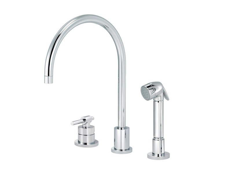 3 hole countertop kitchen mixer tap with pull out spray DYNAMIC | 3 hole kitchen mixer tap by rvb