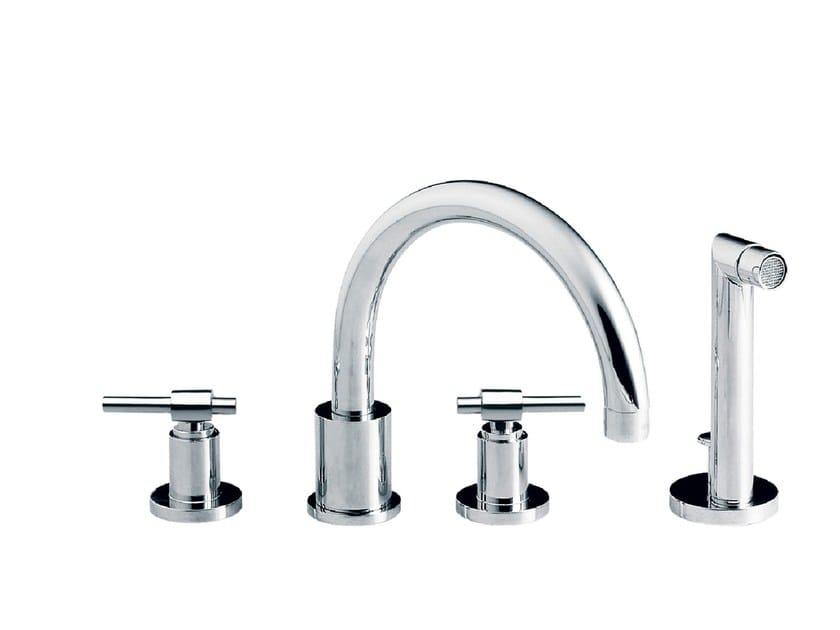 4 hole bathtub set with hand shower DYNAMIC | Bathtub set with hand shower - rvb