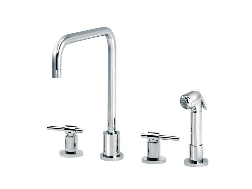 Countertop kitchen mixer tap with pull out spray DYNAMIC | Countertop kitchen mixer tap - rvb