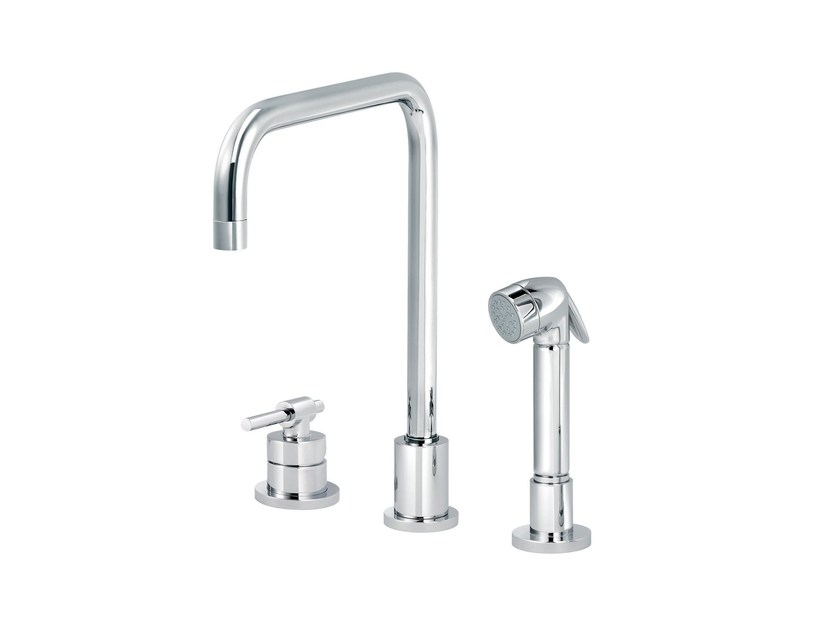 3 hole countertop kitchen mixer tap with pull out spray DYNAMIC | Kitchen mixer tap with pull out spray by rvb