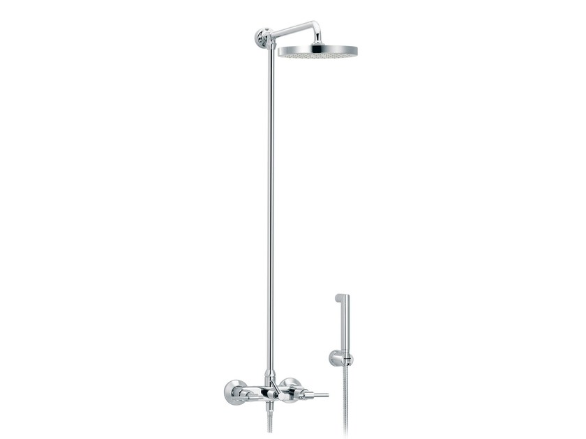 Wall-mounted shower panel with hand shower DYNAMIC | Shower panel with hand shower - rvb