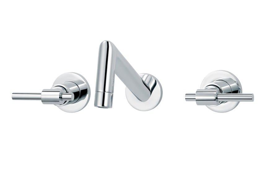 3 hole wall-mounted washbasin mixer DYNAMIC | Wall-mounted washbasin mixer by rvb