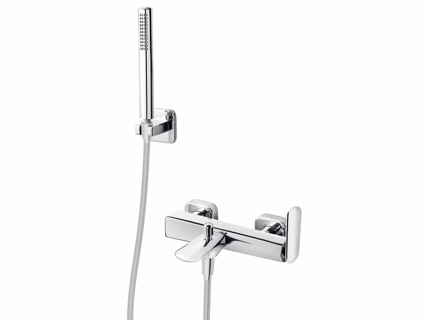 Wall-mounted bathtub mixer with hand shower DYNAMICA 88 - 8833162 - Fir Italia