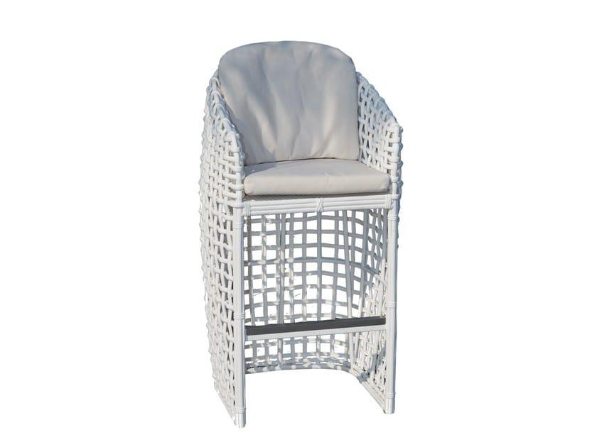 Sedia alta con braccioli DYNASTY 22464 - SKYLINE design