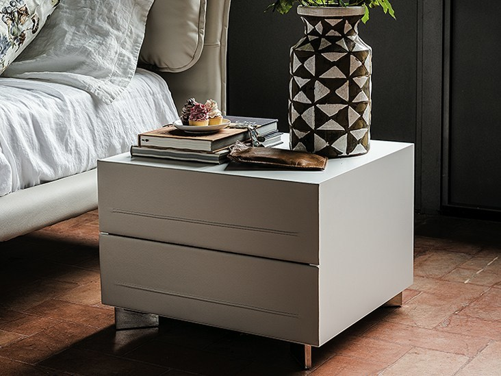 Rectangular bedside table with drawers DYNO | Bedside table - Cattelan Italia