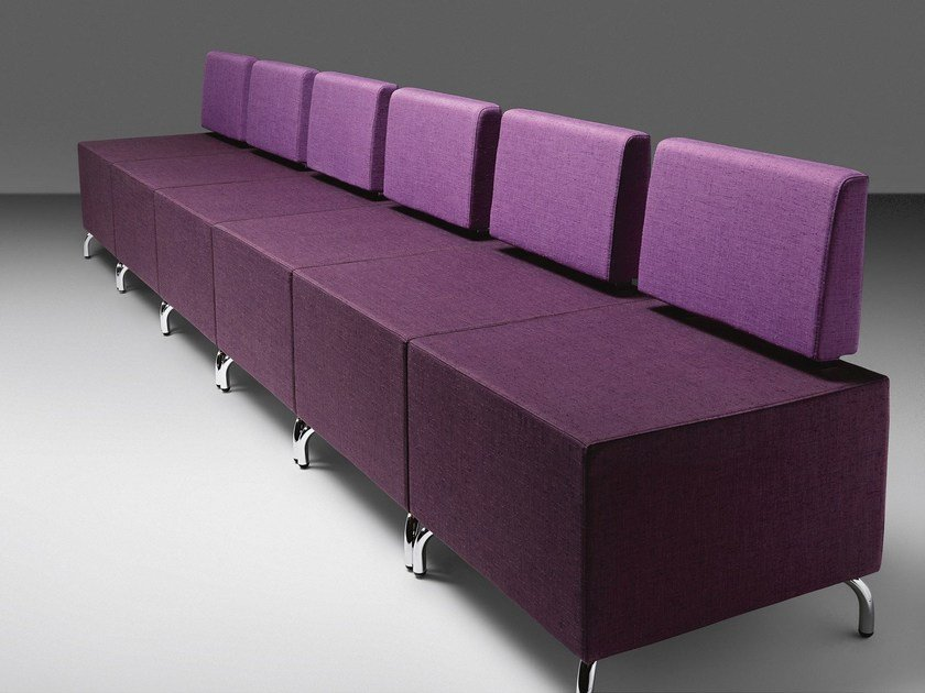 Sectional fabric leisure sofa DADO | Fabric waiting room sofa - Metalmobil