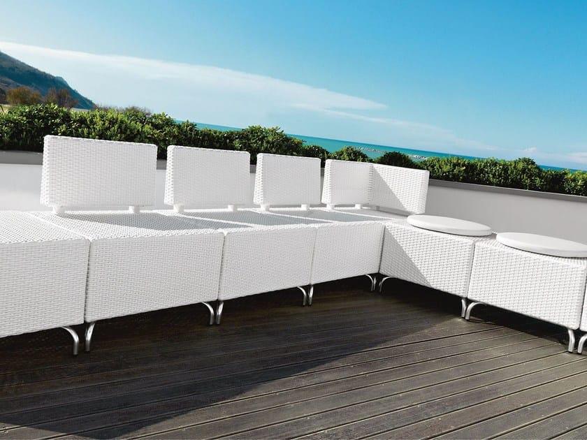Sectional polypropylene garden sofa DADO | Garden sofa - Metalmobil