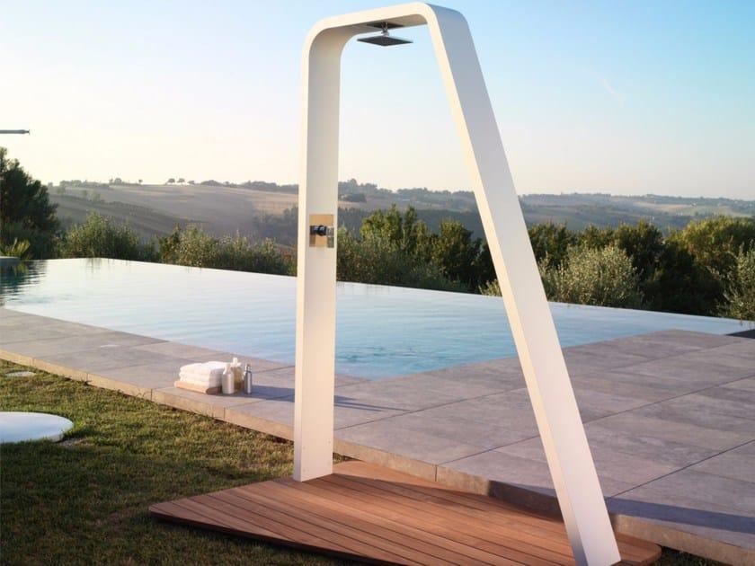 Aluminium outdoor shower RAINBOW - Talenti