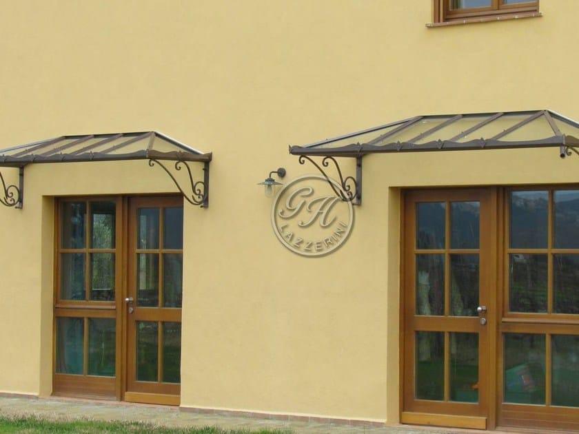 Iron door canopy Door canopy 6 - Garden House Lazzerini