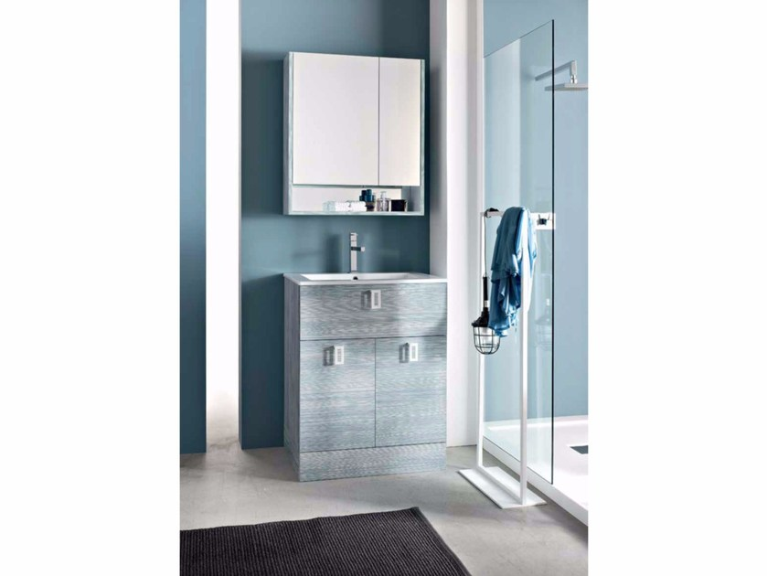 Single wooden vanity unit E.LY - COMPOSITION 47 - Arcom