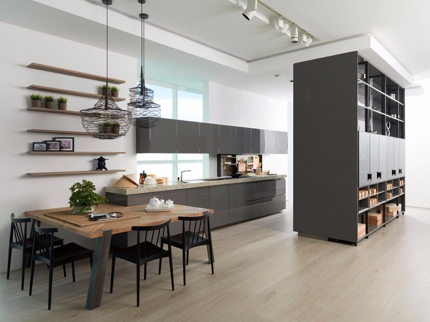 Lacquered fitted kitchen E5.70 by Gamadecor