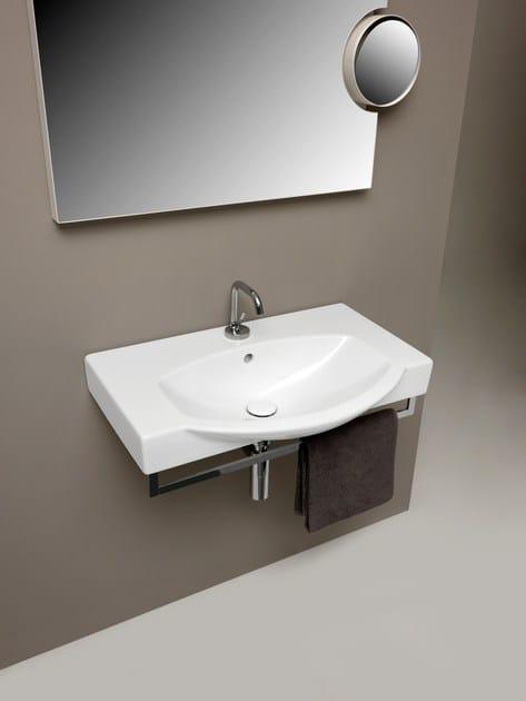 Lavabo a consolle sospeso in ceramica EASY BATH  Lavabo a consolle - Ceramica Cielo