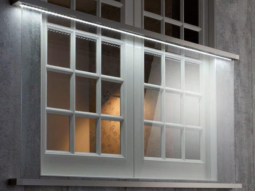 LED glass Window railing EASY GLASS® JULIET BALCONY - Q-RAILING ITALIA