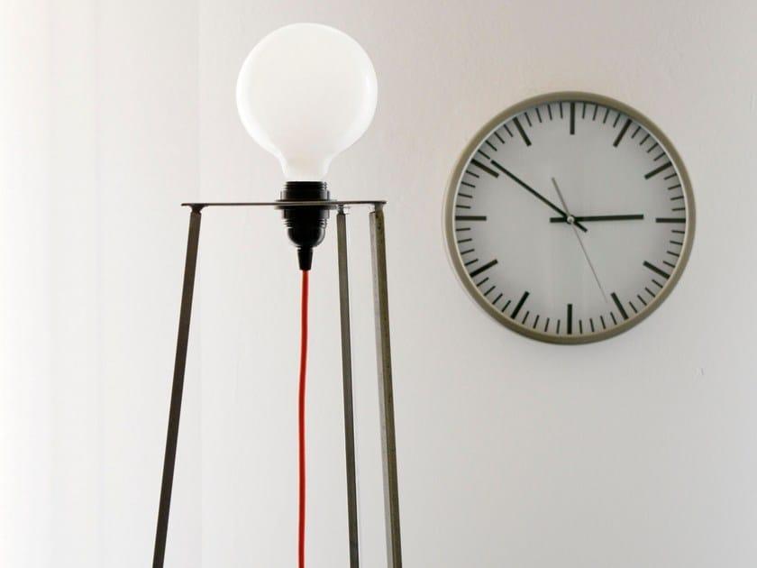 LED direct light iron floor lamp EASY / REMOVABLE - bigdesign