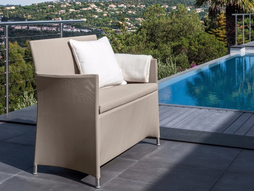 3 seater garden sofa with removable cover EASY | Sofa - Talenti