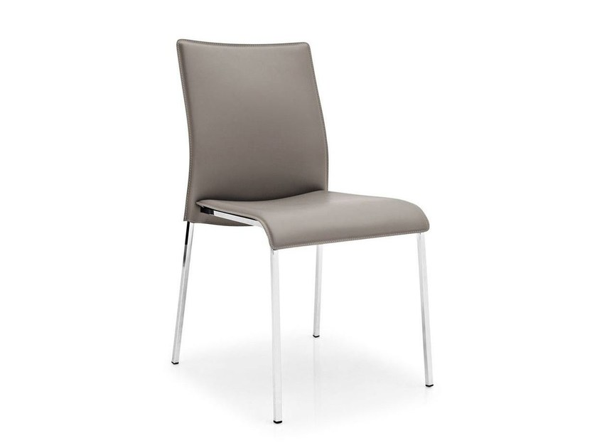 Tanned leather chair EASY - Calligaris