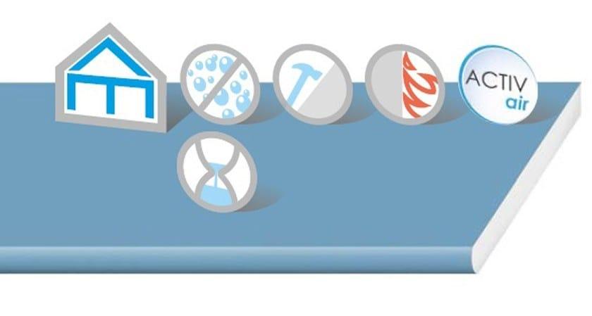 Gypsum plasterboard EASY2 Activ'Air - Saint-Gobain Gyproc
