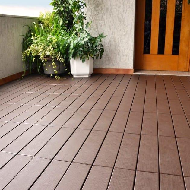 Pavimento per esterni flottante effetto legno easyplate for Pavimento pvc flottante