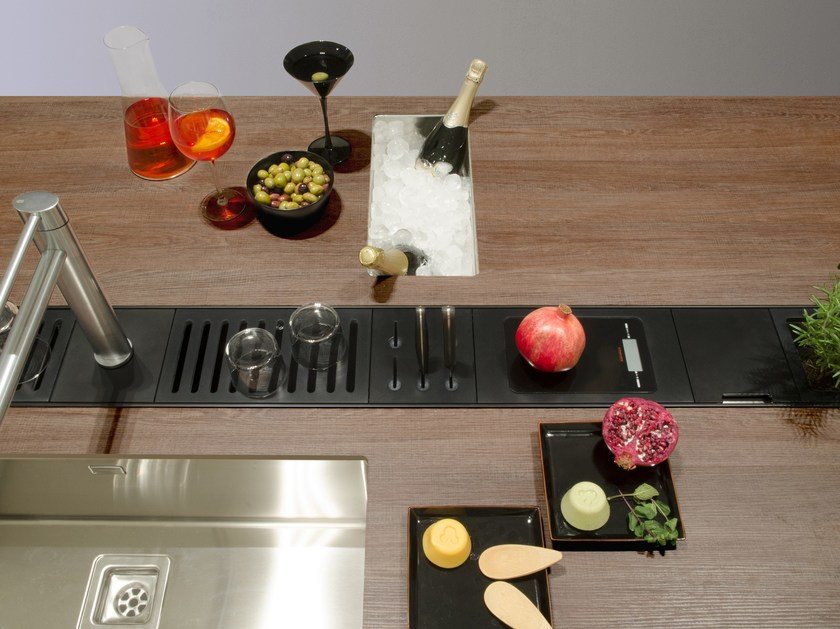 Kitchen equipped track EASYRACK KITCHEN FLAT | Scale by DOMUSOMNIA