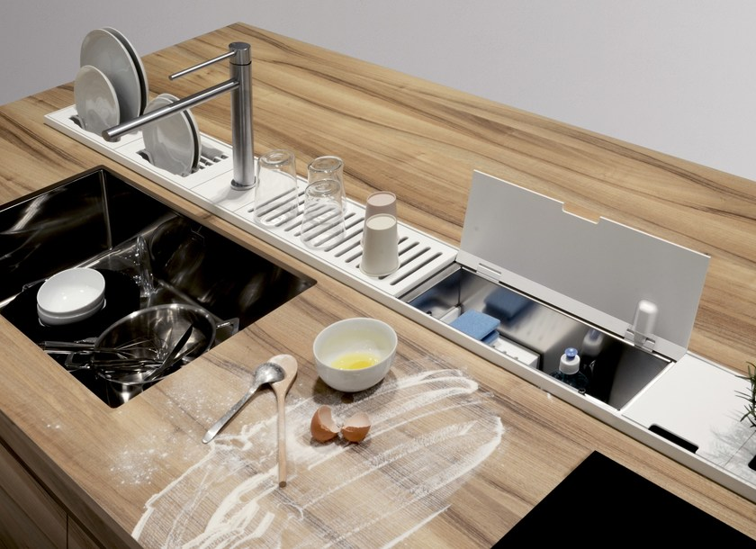 Kitchen equipped track EASYRACK KITCHEN STEP | Cleaning holder by DOMUSOMNIA
