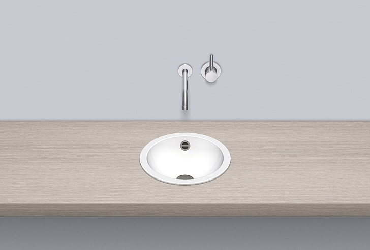 Built-in basin from glazed steel EB.K325 - ALAPE