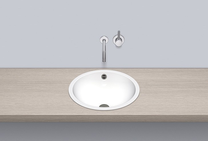 Built-in basin from glazed steel EB.K450 - ALAPE