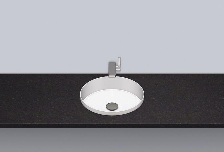 Built-in basin from glazed steel EB.KE375 by Alape