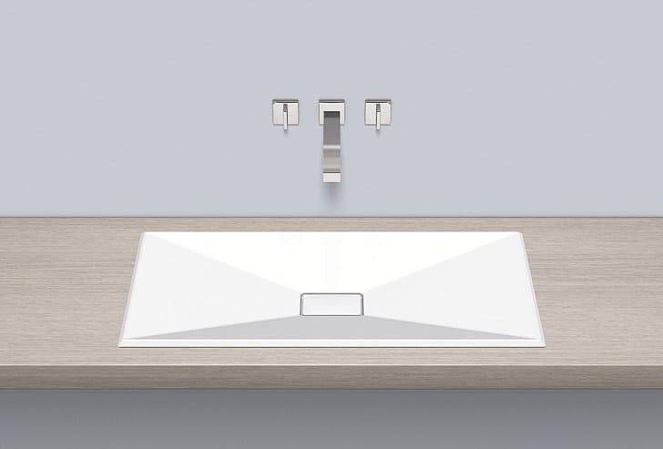 Built-in basin from glazed steel EB.KF800 - ALAPE
