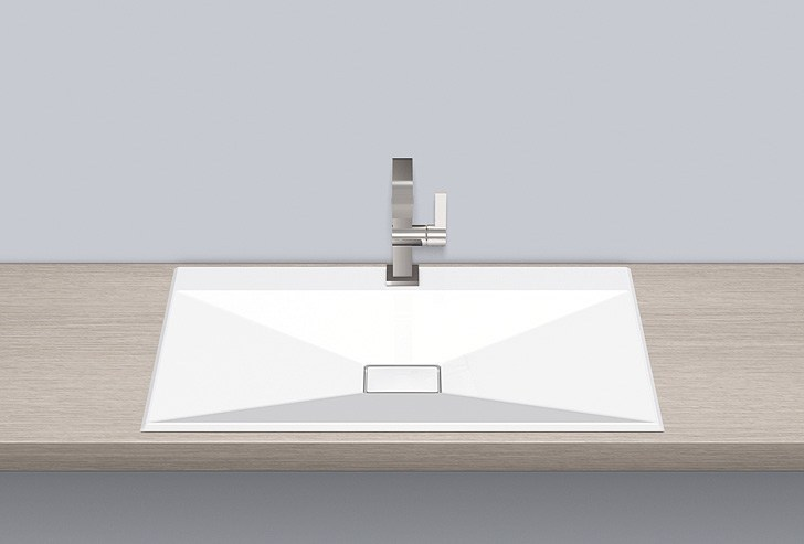 Built-in basin from glazed steel EB.KF800H - ALAPE
