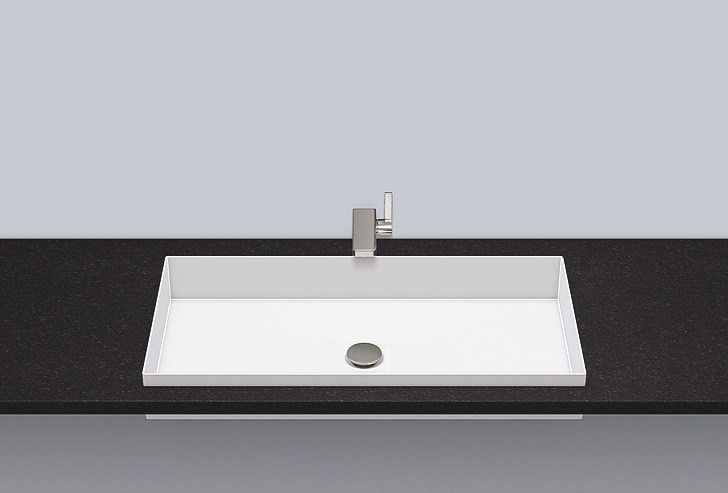 Built-in basin from glazed steel EB.ME750 - ALAPE