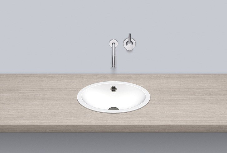 Built-in basin from glazed steel EB.O425 - ALAPE
