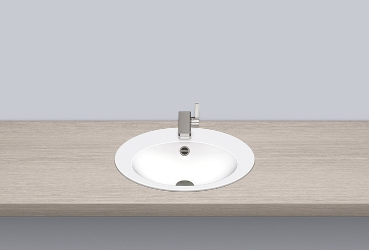 Built-in basin from glazed steel EB.O500H - ALAPE